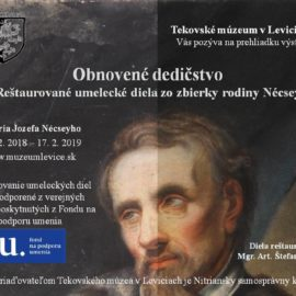 Obnovené umelecké diela zo zbierky rodiny Nécsey